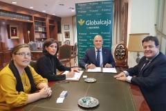 Firma Convenio de Colaboración financiera del CGSCR con Globalcaja. 14 de noviembre 2017